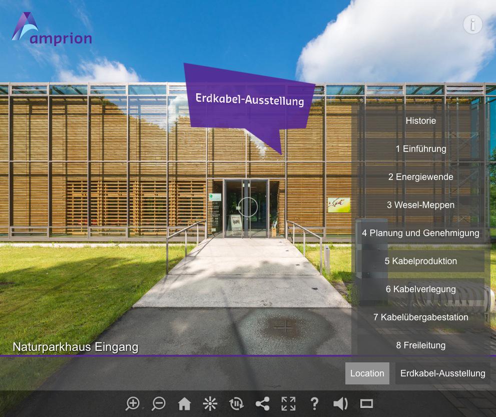 Virtuelle Tour Amprion Erdkabel-Ausstellung